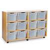 Mobile Tray Storage Unit With 12 Extra Deep Trays  small