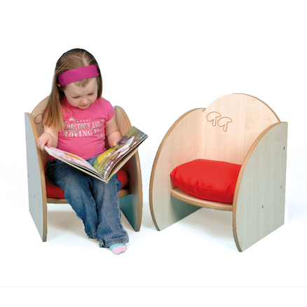 Mini Wooden Chairs with Cushions 2pk  large