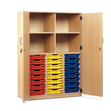 Cupboard with 24 Shallow Trays  medium