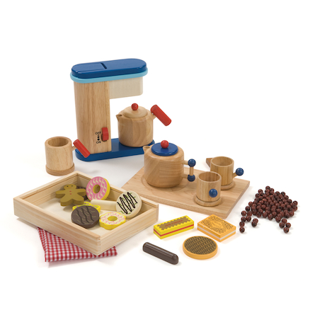 Role Play Wooden Tea Coffee and Biscuit Set 20pcs  large
