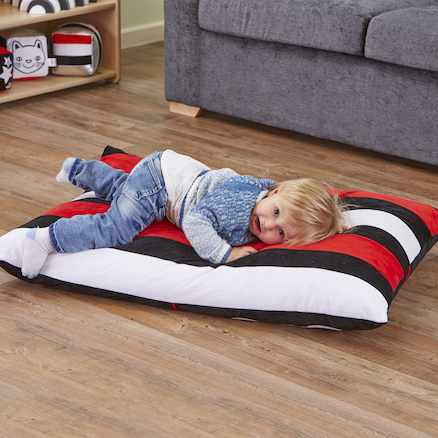 Giant Black \x26 White Cushion  large