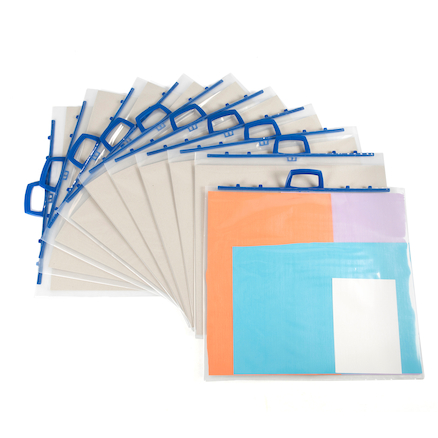 Polyfile Transparent Portfolio A2 10pk  large