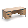 Double Three Drawer Desk  small