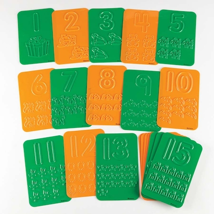 Number and Counting Plastic Rubbing Boards 1\-20  large