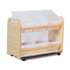 Tilted Tub Wooden Storage Trolley  small