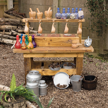 Outdoor Wooden Messy Concoctions Bench  medium