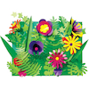 Botanical Card Shapes Assorted 210pk  small