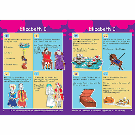 KS3 Elizabeth 1 Revision Activity Cards 10pk  large