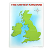 UK Magnetic Map with 40 Illustrated Pieces A2  small