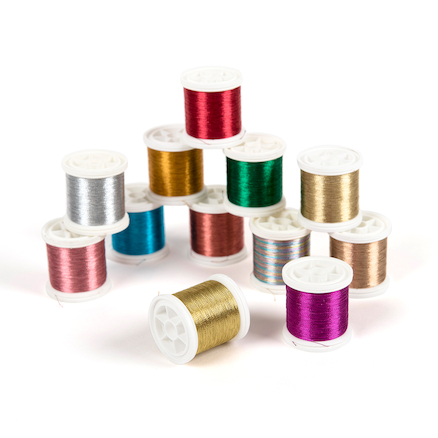 Metallic Embroidery Threads 12pk  large