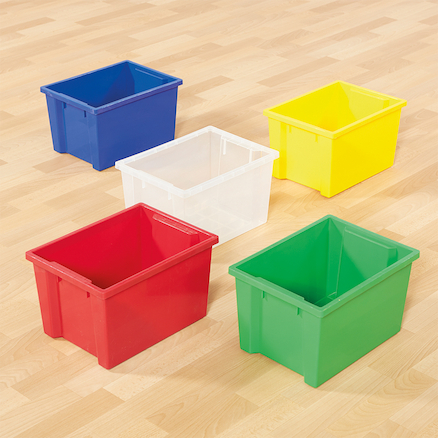 Classic Plastic Storage Trays Small Red  large