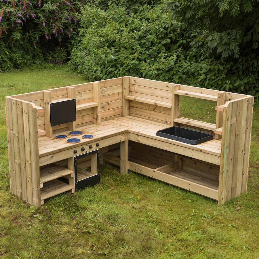 Buy Outdoor Wooden Corner Kitchen Unit Tts