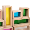 Rainbow Wooden Building Bricks 36pcs  small