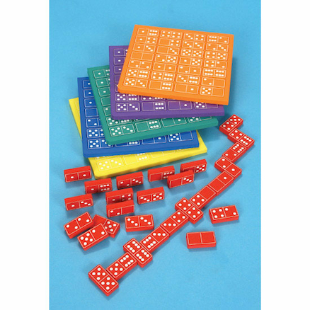 Coloured Foam Silent Dominoes 6pk  large