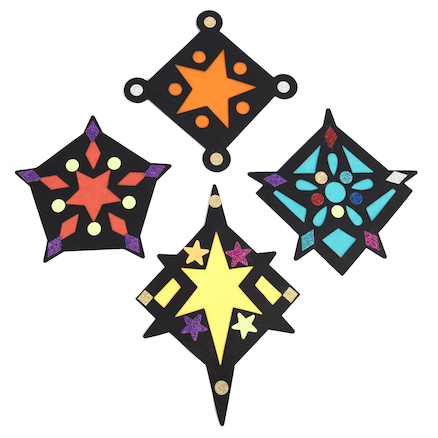Stained Glass Window Star Decorations  large