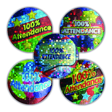 Sparkly Attendance Rewards Stickers 250pk  medium