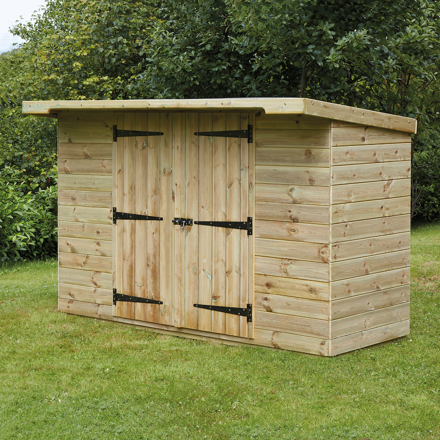 Buy large lockable wooden outdoor storage shed tts for Wooden garden storage shed