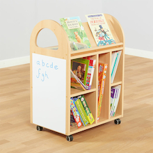 Double Sided Book Trolley W60 x D40 x H80cm  medium