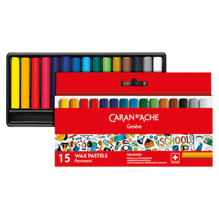 Caran Dache Water Soluble Half Wax Pastels  large