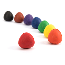 Chubbie Egg Crayons Assorted 8pk  medium