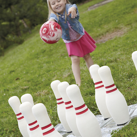 Super Soft Foam Bowling Set 10 Pins and 20cm Ball  large