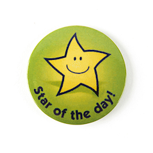 Star Of The Day Round Badges 20pk  medium