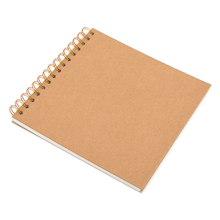 140gsm Kraft Cover Spiral Sketchbook 200mm Square  medium
