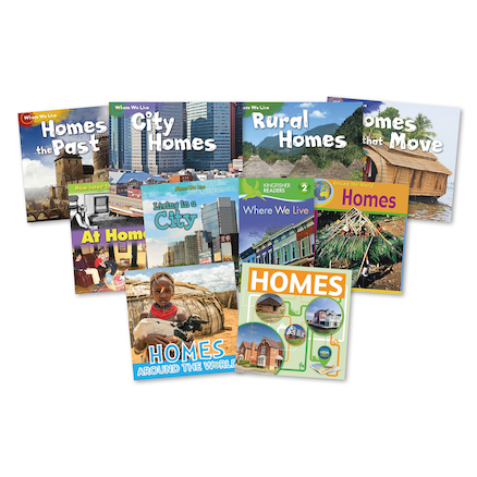 Homes of the Past and Present Books 10pk  large