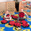 Back to Nature Square Rug and Ladybird Cushions  small