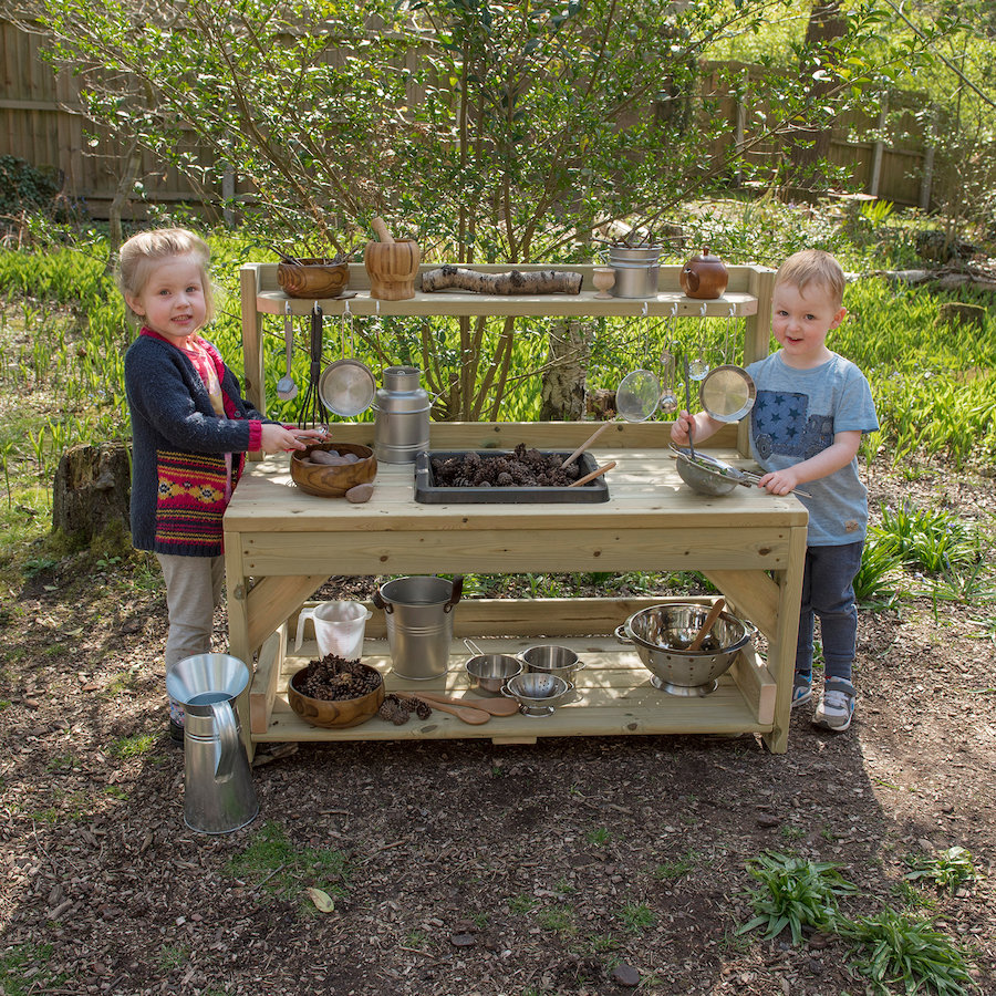 Kitchen Academy: Buy Outdoor Messy Play Wooden Mud Kitchen