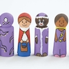 Small World Natural Wooden Peg People 20pk  small