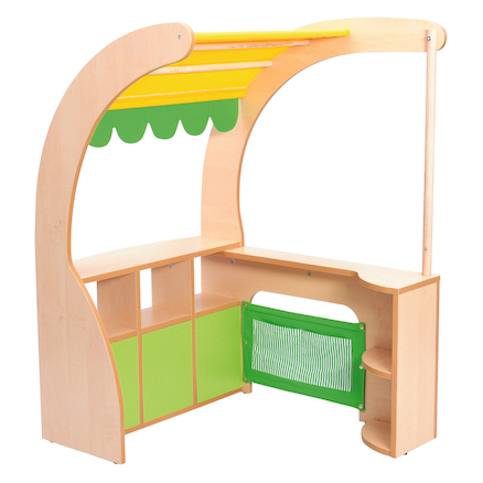 Role Play Wooden Corner Market Stall  large