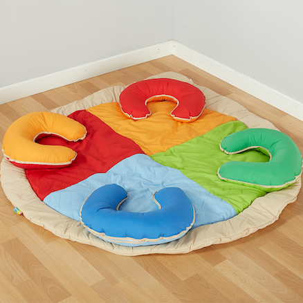 Group Fabric Horseshoe Mat  large