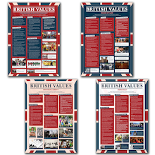 British Values Poster Set 4pk  medium