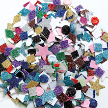 Glitter Paper Mixed Shapes Assorted 2000pk  medium