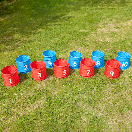 Numbered Folding Storage Tubs 1\-10  large
