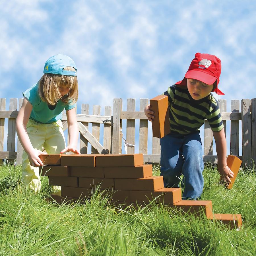 Buy role play foam house building bricks tts for Foam home construction
