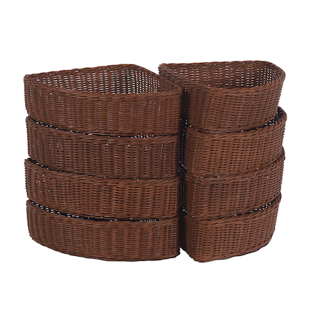 Corner Wicker Baskets  large