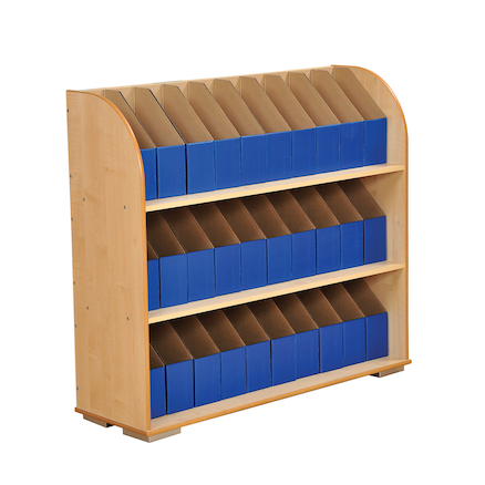 Bookcase with 30 A4 Library Boxes  large
