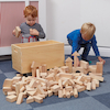 Wooden Construction Blocks in a Cart 224pcs  small