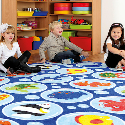 Under the Sea Rectangular Floor Mat W200 x L300cm  large