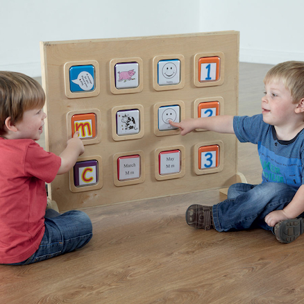 Wooden Recordable Talking Wall Panel 12 Big Points  large