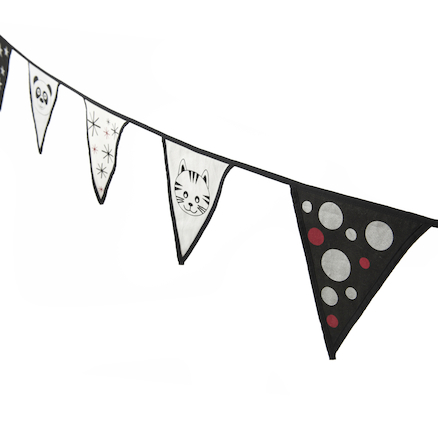Black And White Bunting  large