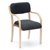 Prague Wooden Frame Stackable Chairs  small