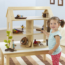 Toddler Wooden Small World House & Furniture Set  medium