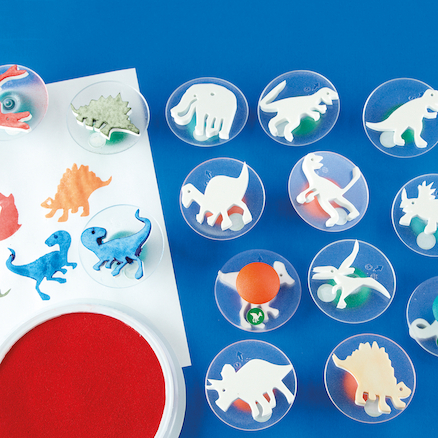 Assorted Dinosaur Stampers D7.5cm 14pk  large