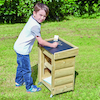 Outdoor Wooden Trolley and Mark Making Chalkboard  small