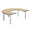 Height Adjustable Horseshoe Table  small