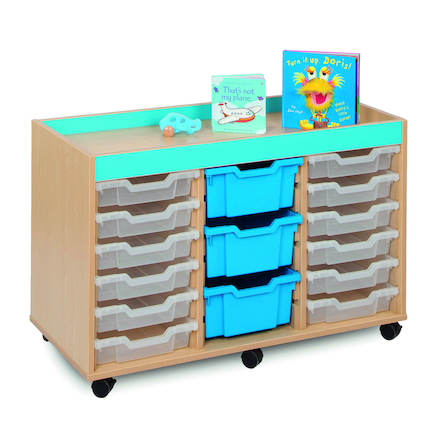 Bubblegum 15 Mixed Tray Storage Unit  large