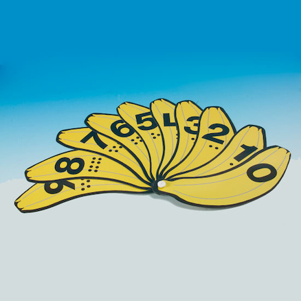 Wipe Clean Banana Number Bunch Fans 30pk  large